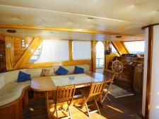 Dining area of the schooner Pallas
