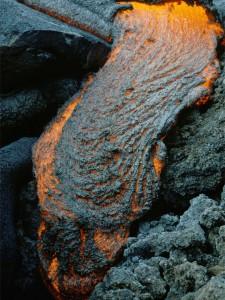 A lava flow