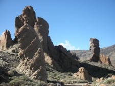 A walk in the natural park of the Teide volcano