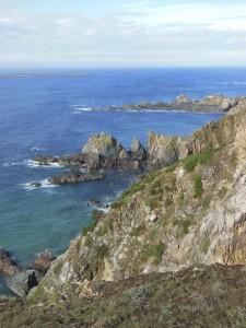 Alderney – The rocky coast