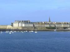 The city wall of Saint-Malo