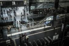 Inside Osaka Airport railway station