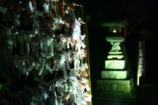 Prayer papers in a buddhist temple