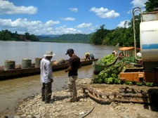 Rafting Extension – On the shore of a tributary of the Amazon