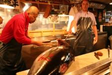 The Tsukuji fish market