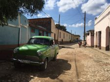 A '50s car in a street in Trinidad
