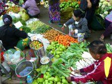 The Nyaung-U market near Bagan