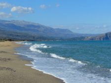 A beautiful beach west of Rethymno