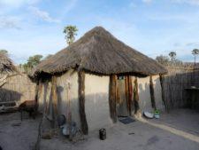 Traditional dwelling in a village in the Okavango Delta