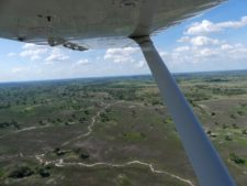 Flying over the Okavango Delta — the only means of communication