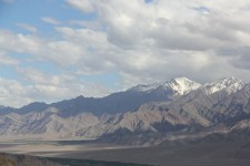 A mountain chain as seen from Leh