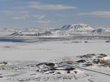 Crater landscape near Mývatn
