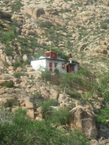 Monastery at the foot of the Khogno Khan mountain