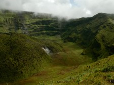 The Soufrière volcano crater, Saint Vincent