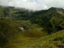 The Soufrière volcano crater, Saint Vincent