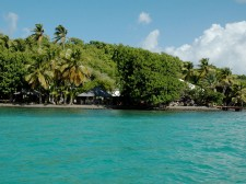 One of the two hotels we use, each on their own islet off Martinique