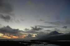 The sun setting at Lajes