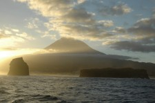 Arrival at Pico from Faial early in the morning