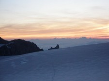 The Glacier du Trient at dawn