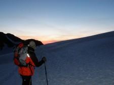 The Glacier du Trient with head-lamps