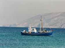 A fishing boat passing