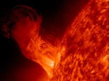 A solar eruption