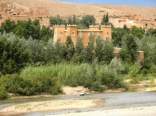 A kasbah on the road to the Valley of the Roses