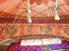 Interior of a kyrgyz yurt