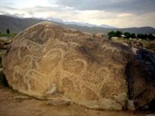 Petroglyphes of Cholpton Ata