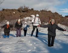 Start of the snow-shoes hike