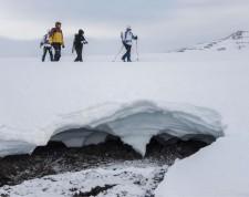 Snow-shoes at Lake Mývatn