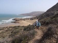 Family trek on the Atlantic coast