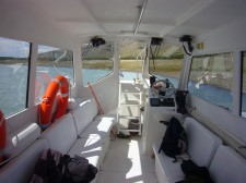 A boat used on the south arm of Lake Argentino and on Lake Roca (Argentina)