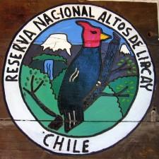 Emblem of the National Reserve Altos de Lircay (Chile)