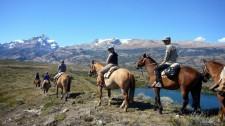 Horseback riding near El Calafate (Argentina)
