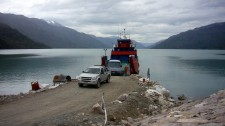 A ferry unloading (Chile)
