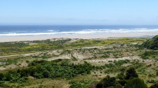 A Pacific beach on the island of Chiloé (Chile)