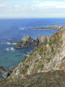 Alderney – The rocky coast