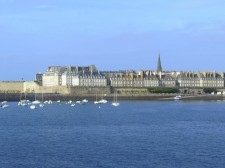The city wall of Saint-Malo
