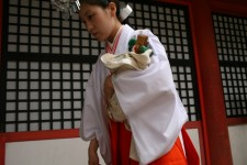 A woman dressed in a traditional kimono