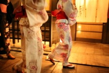 Women wearing a kimono
