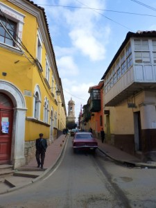 Colonial Towns Extension– A flashy street in Potosi