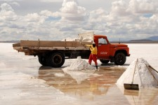 Salt harvesting in Colchani