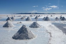 Salt mounds in the Salar