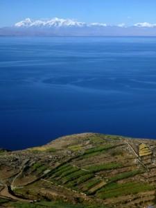 View of the Cordillera from Suriqui Island