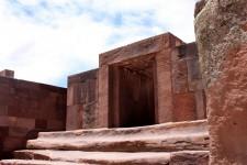 The Kalasasaya Temple door in Tiwanaku