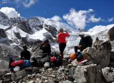 Mountaineering Extension – A pause while walking towards the camp