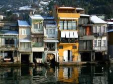 Houses on the Bosphorus in winter
