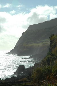 The steep southeastern coast