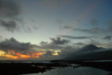 Sunset from the port of Lajes